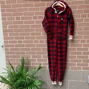 Pook Red Plaid Onesie